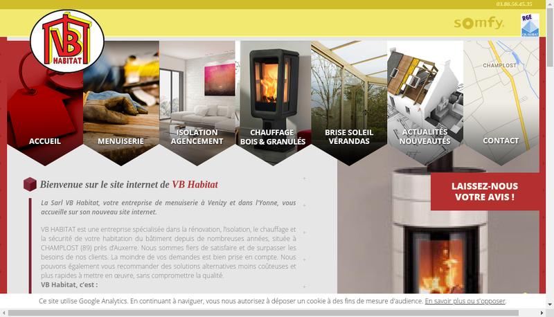 Site internet de SARL Vb Habitat
