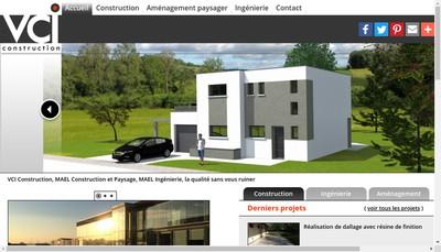 Site internet de VCI - Construction