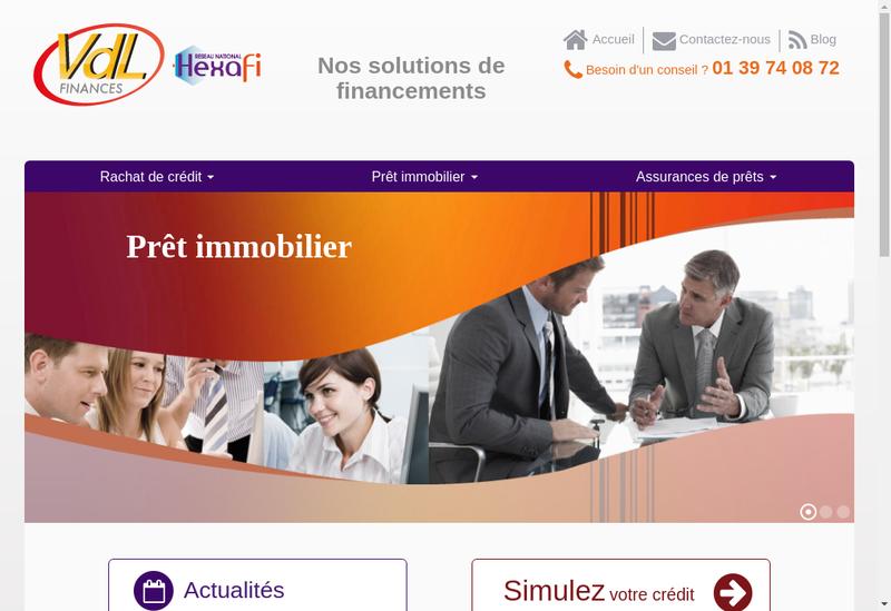 Capture d'écran du site de Vdl Finances