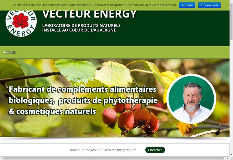 Capture d'écran du site de Vecteur Energy