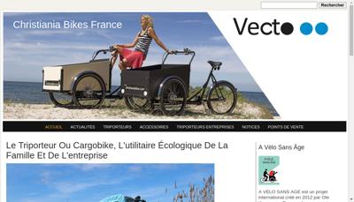Capture d'écran du site de Vecto
