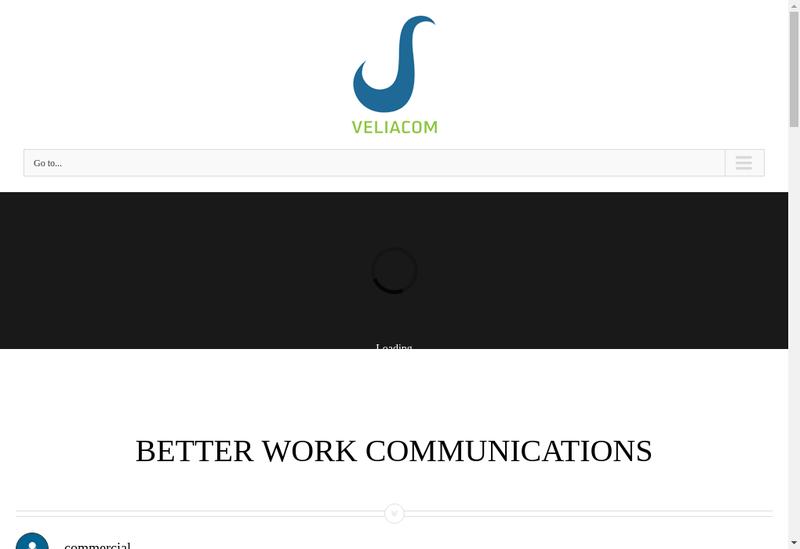 Capture d'écran du site de Veliacom Invest
