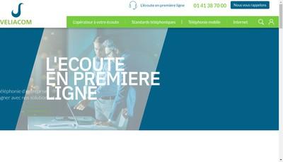 Site internet de Veliacom Invest