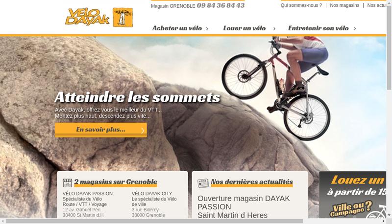 Capture d'écran du site de Dayak