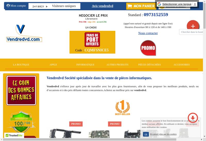 Capture d'écran du site de Lassana Diakite
