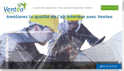 Site internet de Venteo Ile de France