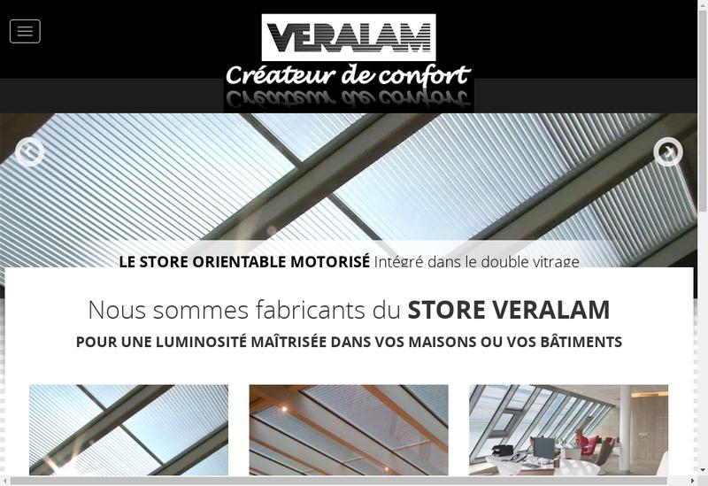 Capture d'écran du site de Veralam