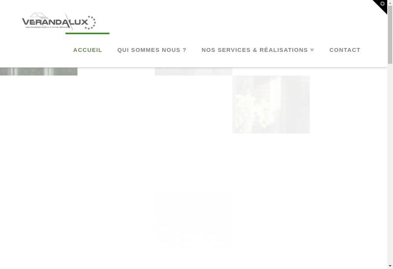 Capture d'écran du site de Verandalux