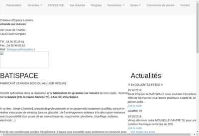 Site internet de Batispace