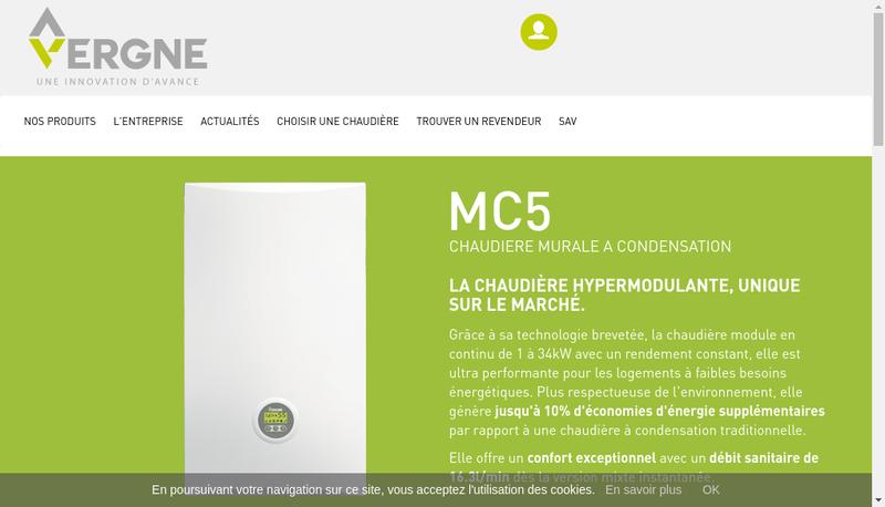 Capture d'écran du site de Vergne Innovation