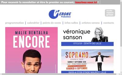 Site internet de SARL Verone Productions