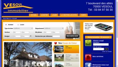 Site internet de Vesoul Immobilier