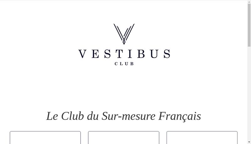 Capture d'écran du site de Vestibus Club