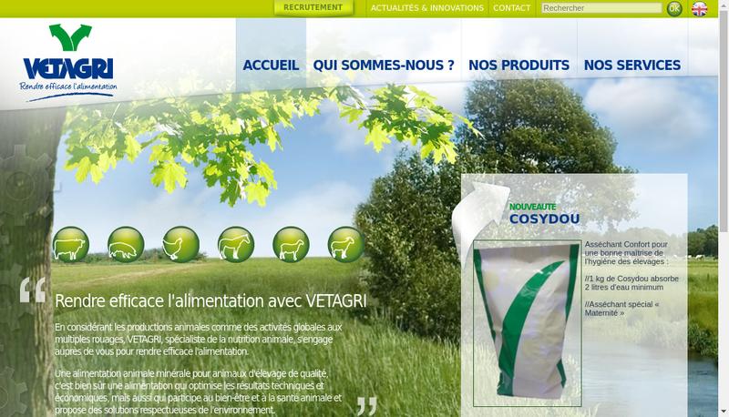 Capture d'écran du site de Vetagri