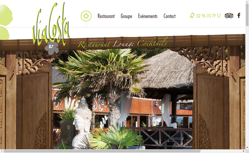 Capture d'écran du site de Via Costa