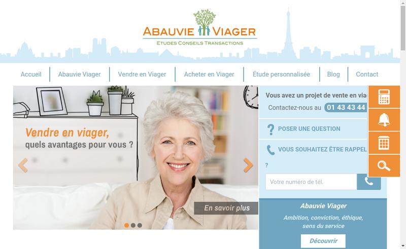Capture d'écran du site de Abauvie Viager