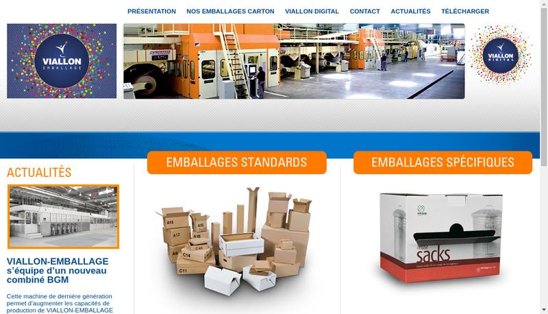 Capture d'écran du site de Viallon Finances