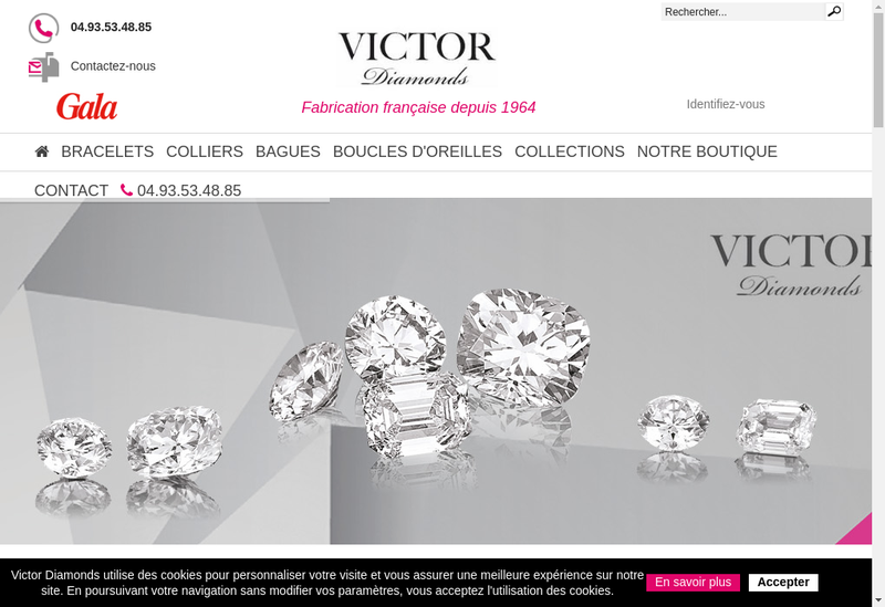 Capture d'écran du site de Victor Diamonds