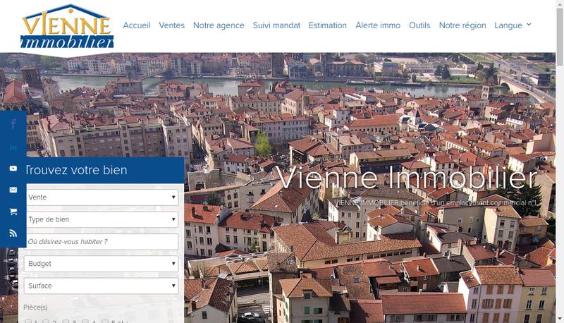 Capture d'écran du site de Vienne Immobilier