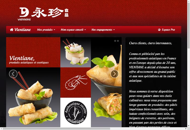 Capture d'écran du site de Vientiane Distribution