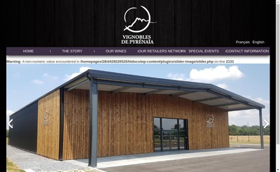 Site internet de Vignobles de Pyrenaia