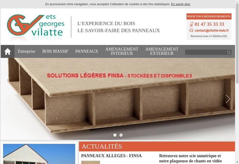 Capture d'écran du site de Etablissements Georges Vilatte