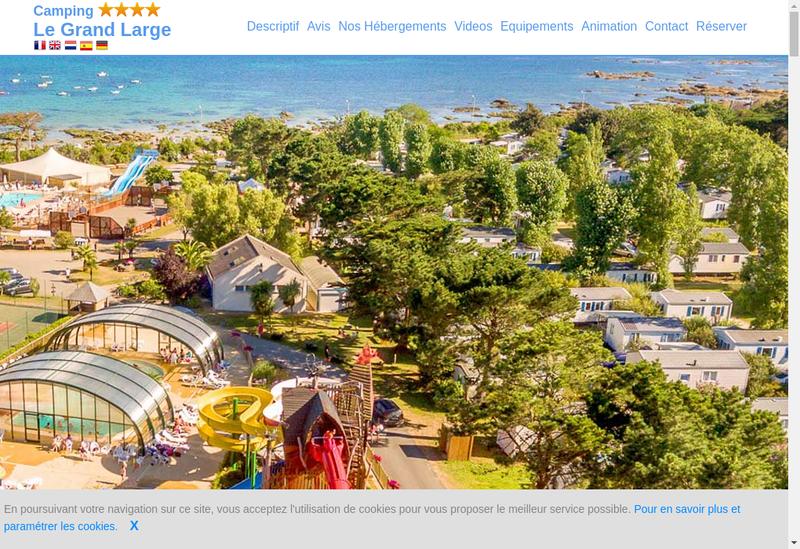Capture d'écran du site de Domaine du Grand Large