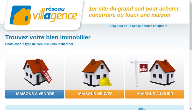 Capture d'écran du site de Maisons Villagence - Reseau Villagence