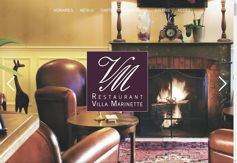 Capture d'écran du site de Villa Marinette