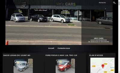 Site internet de Vin'C Cars