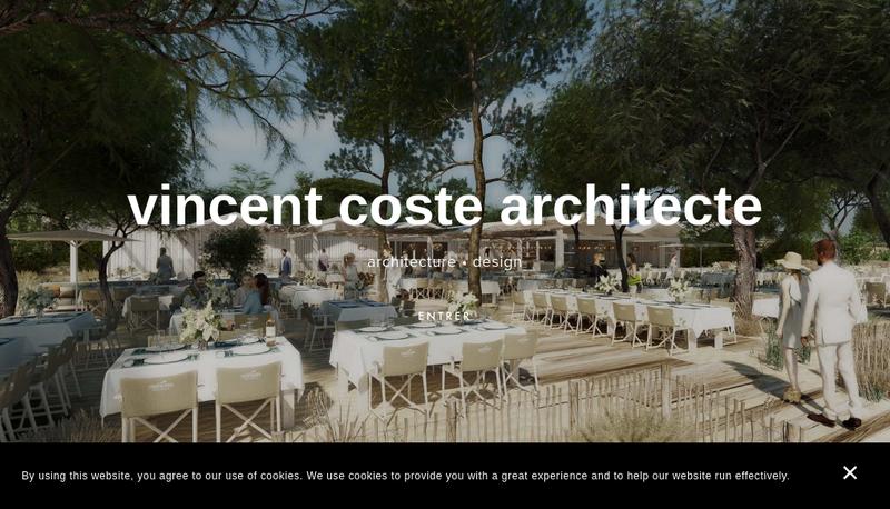 Capture d'écran du site de Vincent Coste Design Studio Associes