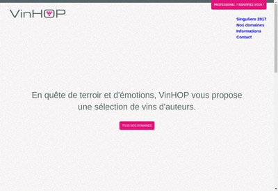 Site internet de Vins et Vignes