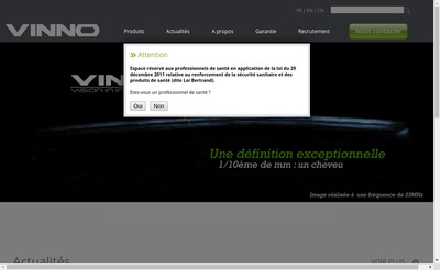 Site internet de Vinno France