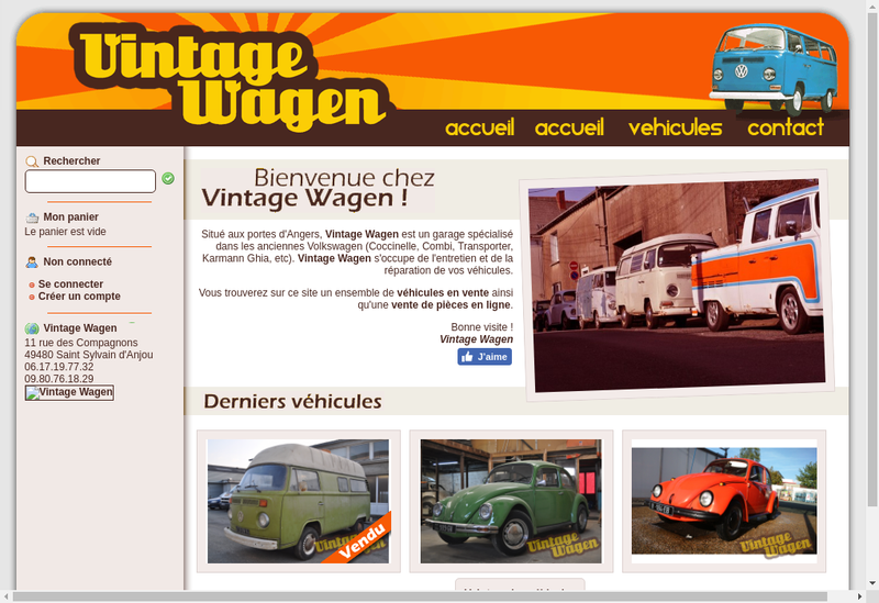 Site internet de Vintage Wagen