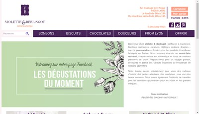 Site internet de Violette et Berlingot