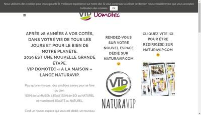 Site internet de Vip Domotec France