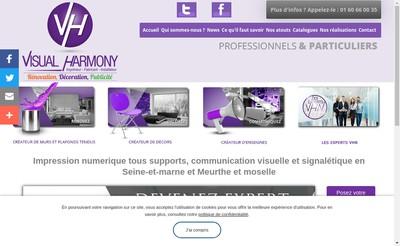 Site internet de Visual-Harmony
