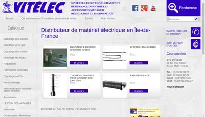 Capture d'écran du site de Vitelec