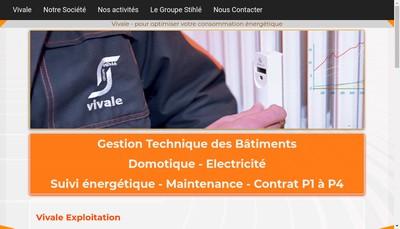 Site internet de Vivale