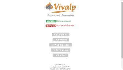 Site internet de Vivalp