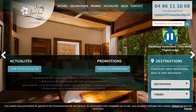 Site internet de Vivez les Iles
