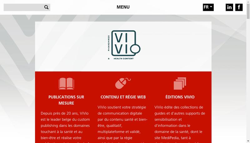 Capture d'écran du site de Vivio France