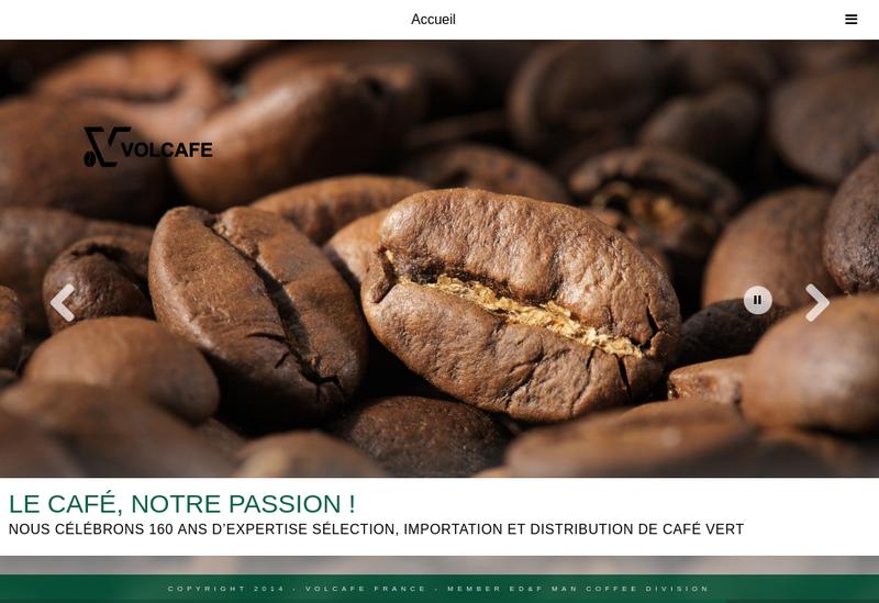 Capture d'écran du site de Volcafe France SAS
