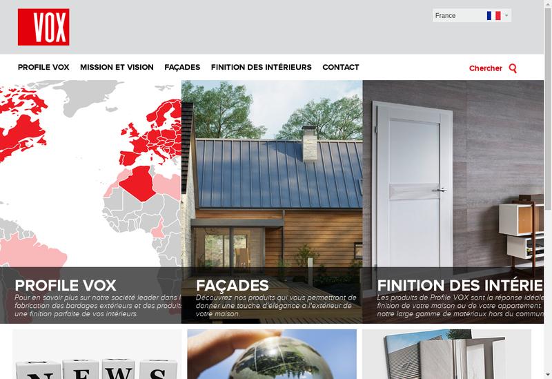 Capture d'écran du site de Vox Profile