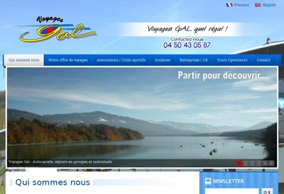 Capture d'écran du site de Gal Voyages