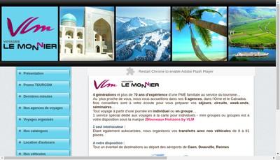 Site internet de Autocars le Monnier Fils