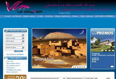 Capture d'écran du site de VLM