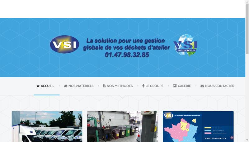 Capture d'écran du site de SARL Vsi Services