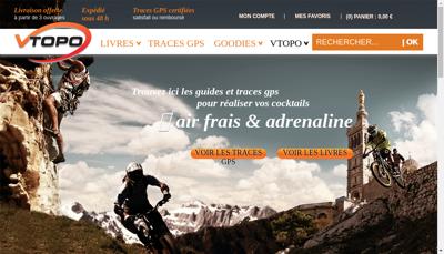 Capture d'écran du site de Vtopo