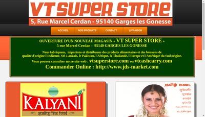 Site internet de Vt Super Store
